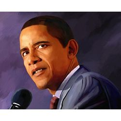 Obama Oil Painting Print