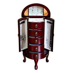 Astoria Jewelry Armoire in Cherry Finish