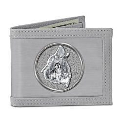 Wolf Art Stainless Steel Men's Wallet
