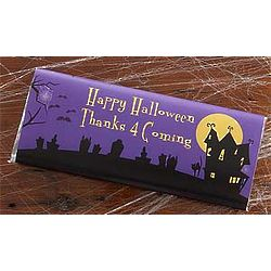 Personalized Haunted House Chocolate Bar Wrappers
