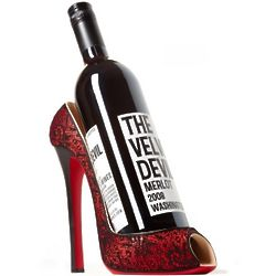 Cherry Lace High Heel Wine Holder