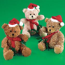 Plush Santa Teddy Bears