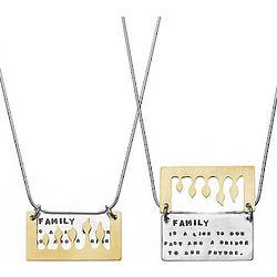 Brass Family Necklace