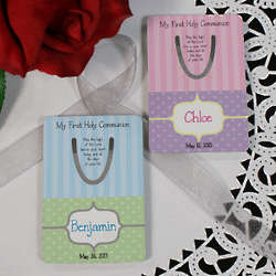 Personalized My First Holy Communion Bookmark