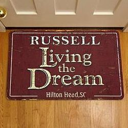 Personalized Rustic Design Doormat