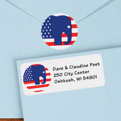 Elephant Political Address Labels and Seals
