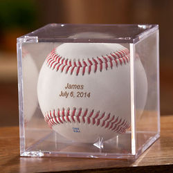 Personalized Baseball with Stand