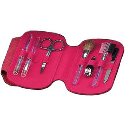 Red Leather 7-Piece Manicure Set