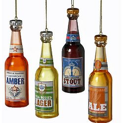 Beer Bottle Ornament Set