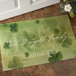 An Irish Welcome Personalized Doormat