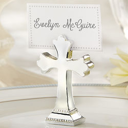 Sacrament Cross Place Card Holder and Photo Clip