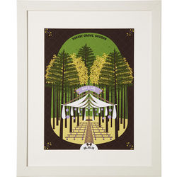 Rustic Forest Wedding Scene Personalized Framed Print