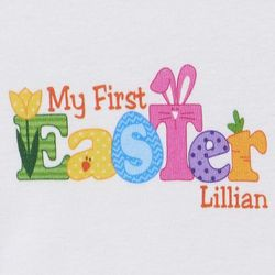 Personalized Baby's First Easter Bodysuit