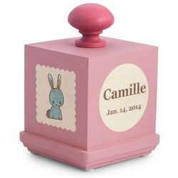 Personalized Pink Lullaby Kitty Music Box