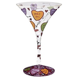 Love Martini Glass