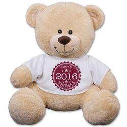 Personalized Graduation Year Medallion T-Shirt Teddy Bear