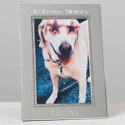 In Loving Memory Personalized Beaded Pet Memorial Frame