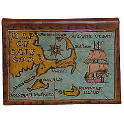 Cape Cod Map Leather Photo Album