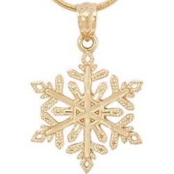 Snowflake 14k Yellow Gold Pendant