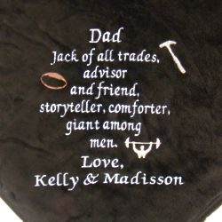 Super Plush Personalized Just for Dad Blanket