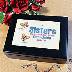 Sisters Friends Personalized Keepsake Box