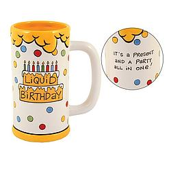 Liquid Birthday Ceramic Beer Stein