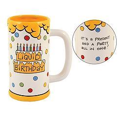 Liquid Birthday Ceramic Beer Stein