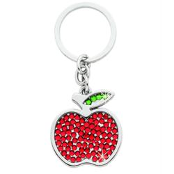 Personalized Crystal Apple Keychain