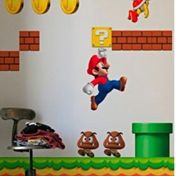 New Super Mario Bros Nintendo Wall Graphics
