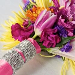 Rhinestone Bouquet Cuff