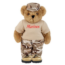 Desert Camo Teddy Bear with T-Shirt