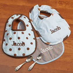 Personalized Little Boy Blue Bibs