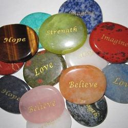 Engraved Inspirational Gemstone Mix