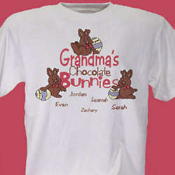 Personalized Chocolate Bunnies T-Shirt