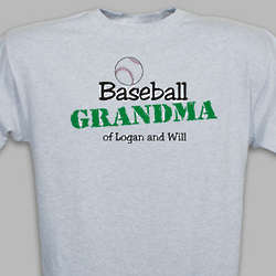 Personalized Baseball Fan T-Shirt