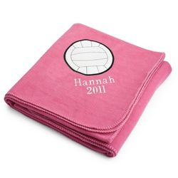 Volleyball Pink Fleece Blanket