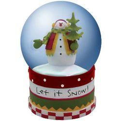 Let it Snow Frosty Tidings Snowman Snow Globe