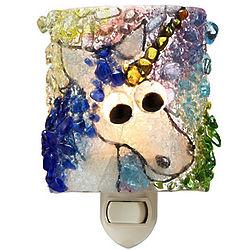 Recycled Glass Unicorn Nightlight
