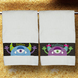 Personalized Monster Bath Towel