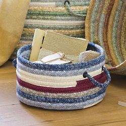Small Stitched Fabric Braided Basket