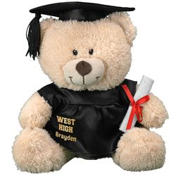 "11"" Personalized Cap and Gown Graduation Teddy Bear"