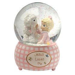 Precious Moments Jesus Loves Me Musical Water Globe for Girls