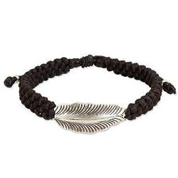 Silver Hill Tribe Dream on Dark Brown Cord Bracelet