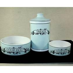 Good Dog Bowls & Canister Gift Set