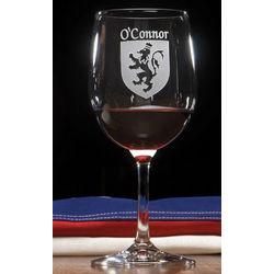Personalized Coat of Arms Wine Glasses