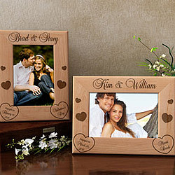 Personalized Engagement Wooden Picture Frame