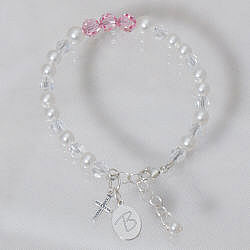 Engraved Communion Bracelet