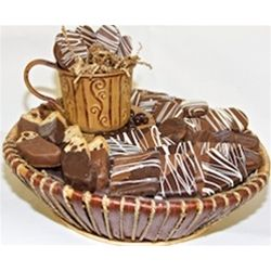 Chocolate Tea Cup Basket