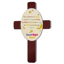 Personalized Now I Lay Me Down Prayer Cross
