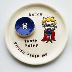 Personalized Super Hero Tooth Fairy Plate